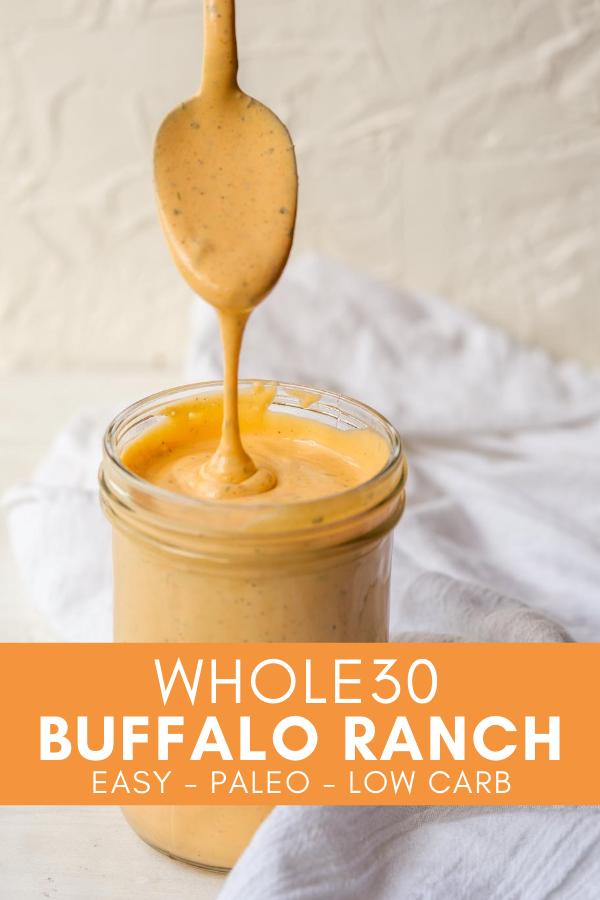 whole30 buffalo ranch pinterest image