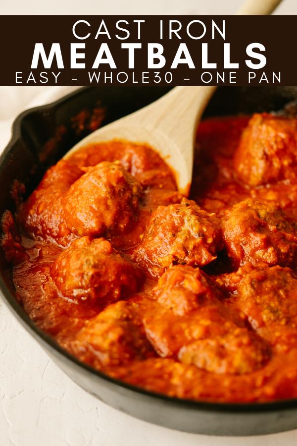Image for pining Cast Iron Meatballs recipe on pinterest