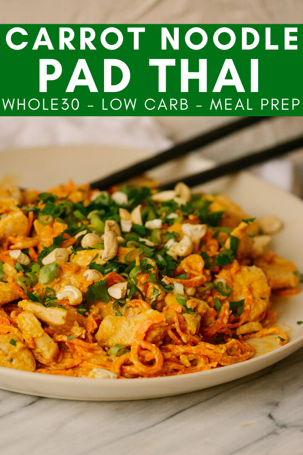 Image for pining Carrot Noodle Pad Thai recipe on pinterest