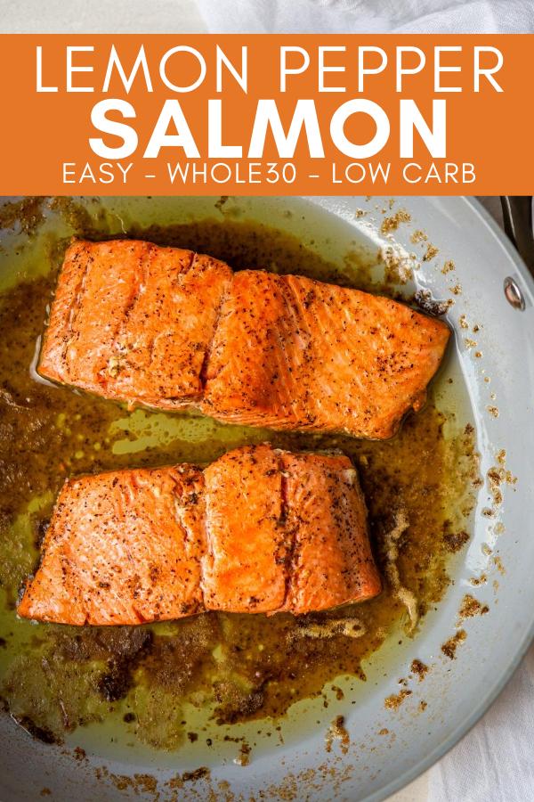 Image for pinning Lemon Pepper Salmon recipe on pinterest