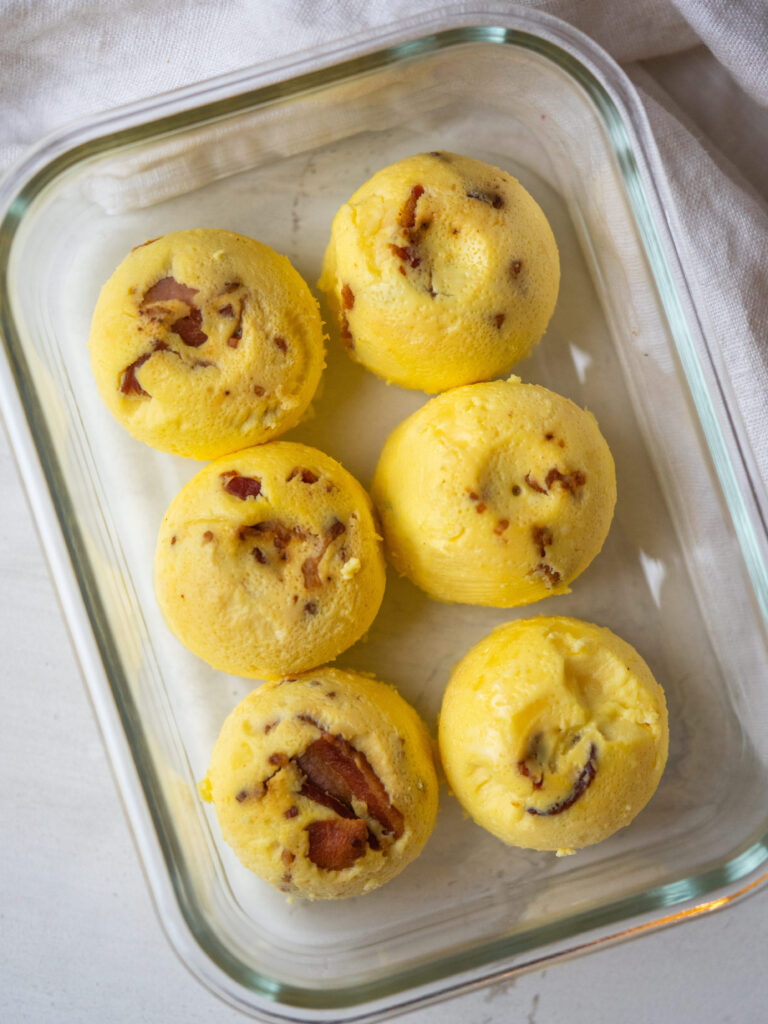 copycat starbucks egg bites in a meal prep container