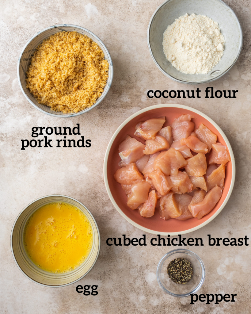 low carb air fryer chicken nuggets ingredients