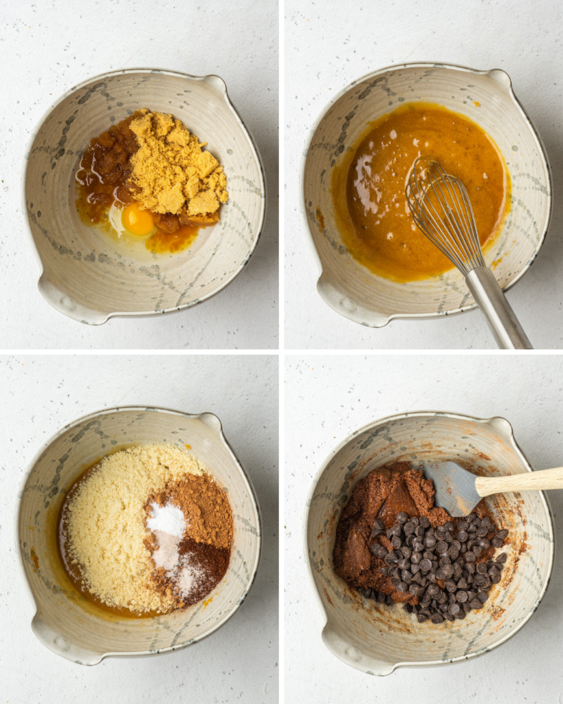 step by step photos making mocha cookie dough