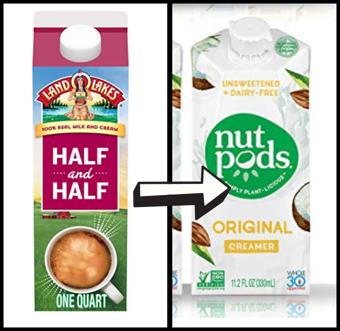 half and half and nut pods