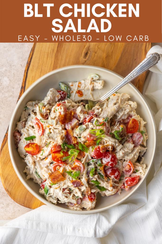 BLT chicken salad pinterst image