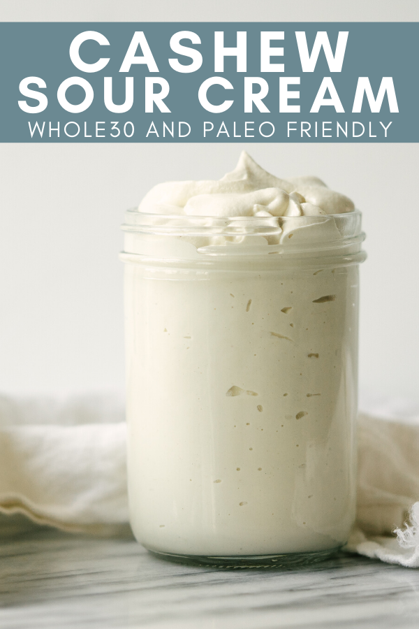 Image for pining cashew sour cream recipe on Pinterest