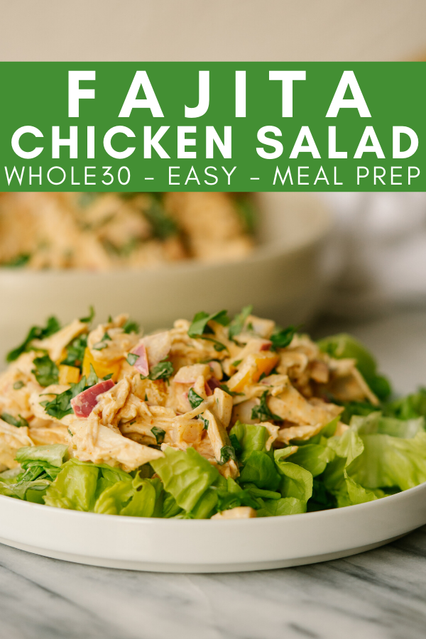 Image for pining fajita chicken salad on Pinterest