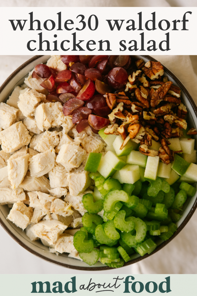 Image for pinning waldorf chicken salad recipe on pinterest
