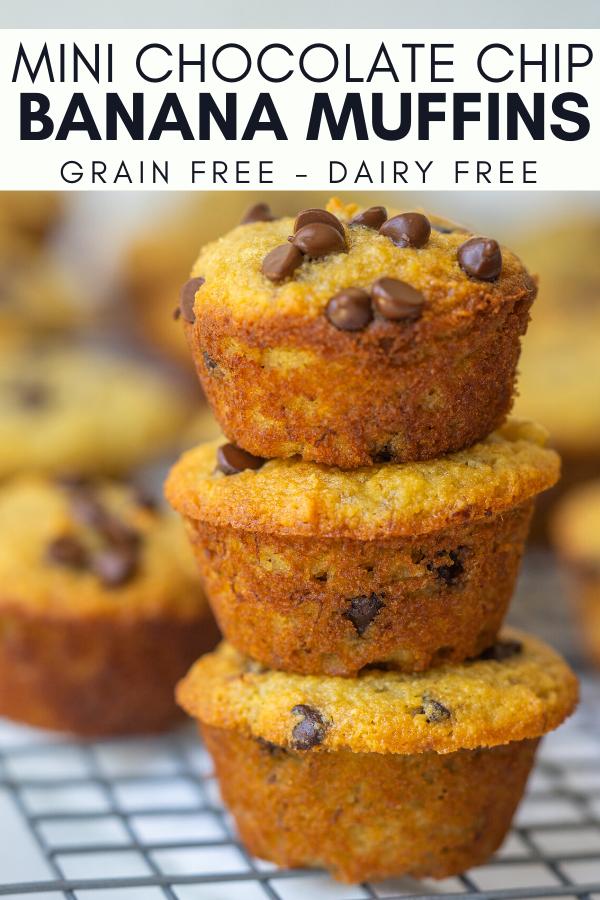 Image for pining mini chocolate chip banana muffins recipe on pinterest