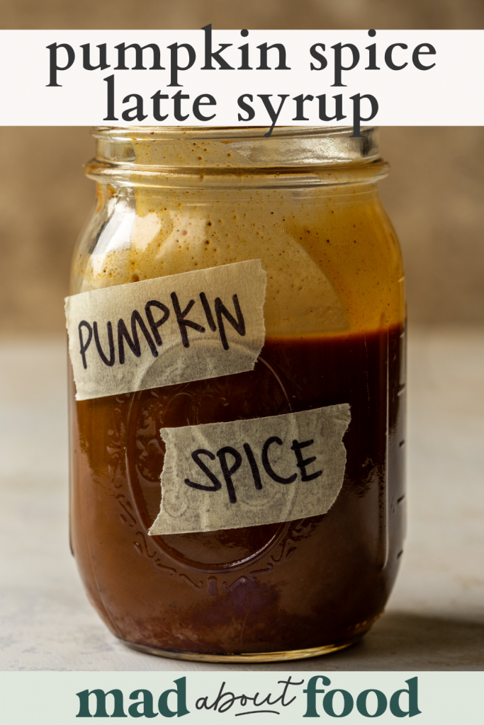 Image for pinning pumpkin spice latte syrup recipe on pinterest