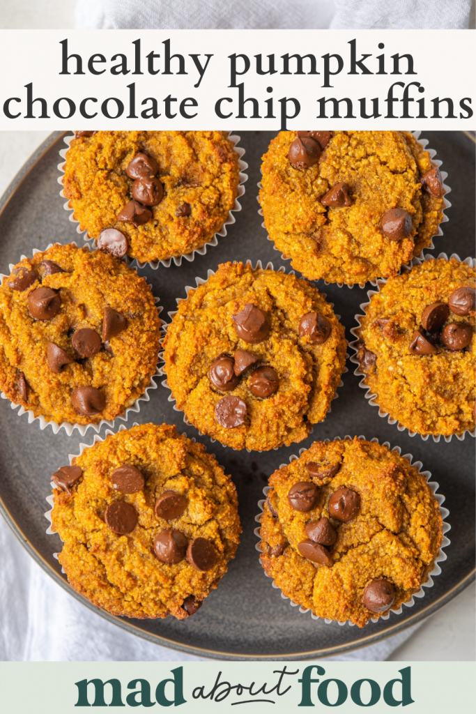 Image for pinning healthy pumpkin muffins recipe on Pinterest