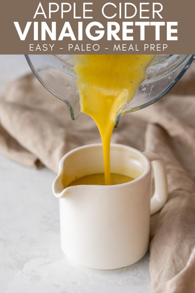 Pinterest image for apple cider vinaigrette recipe