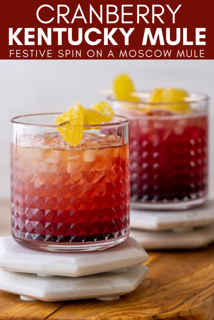 Pinterest image for cranberry kentucky mule