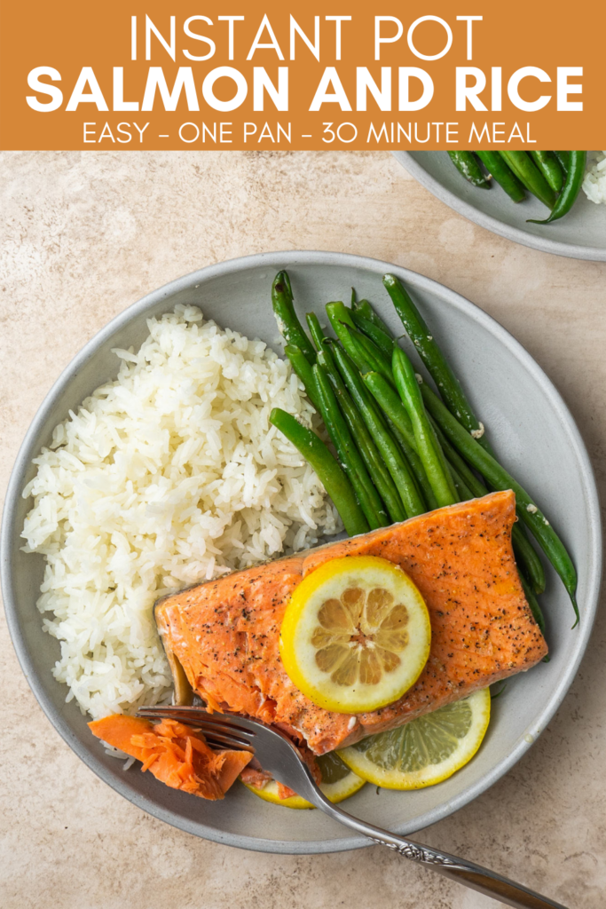 pinterest image for instant pot salmon