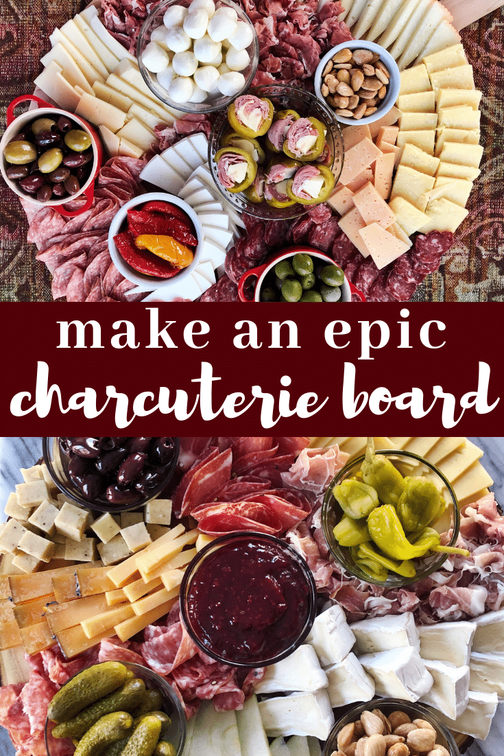 Image for pining make an epic charcuterie board post on Pinterest