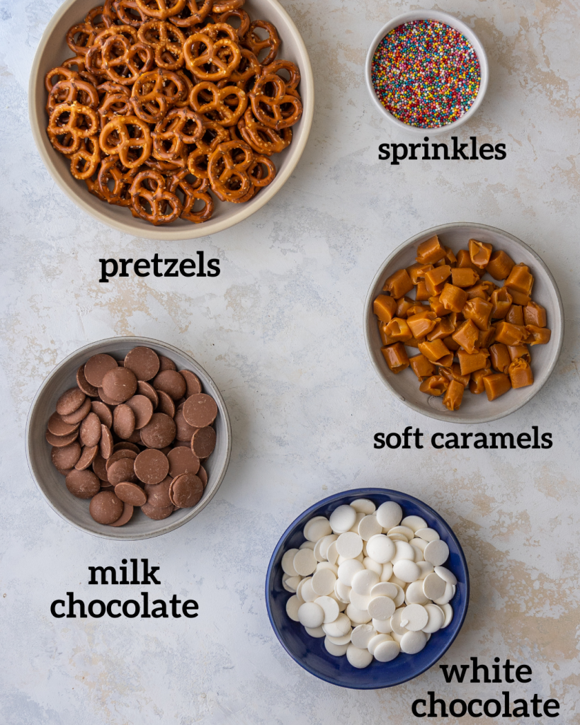 Above view of ingredients for recipe