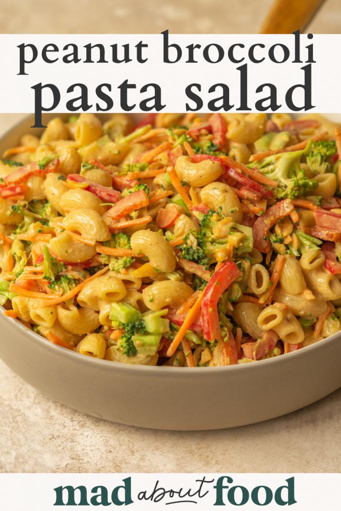 Image for pinning peanut broccoli pasta salad recipe on pinterest