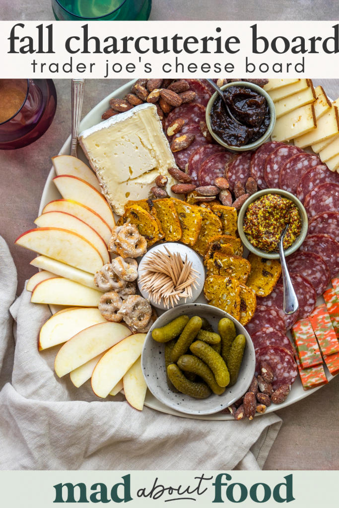 Image for pinning fall charcuterie board recipe on Pinterest